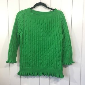 NWT American Living Cable Knit Sweater Green SZ XL